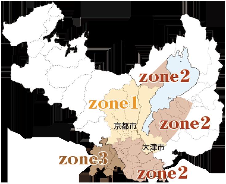 宅配可能エリア地図